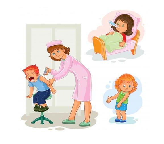 Očkovanie detí infografika