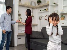 hádka pred deťmi