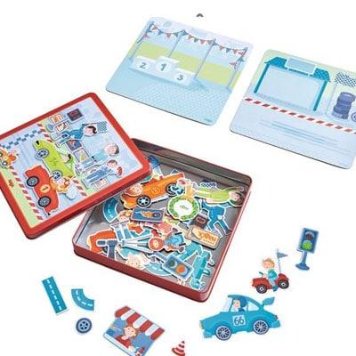 Magnetické autá hra pre deti