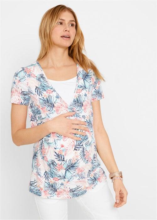 Tehotenské tričko kvetové