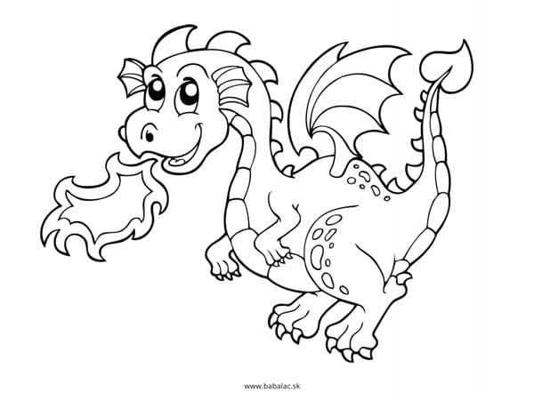 Omaľovánky pre deti drak