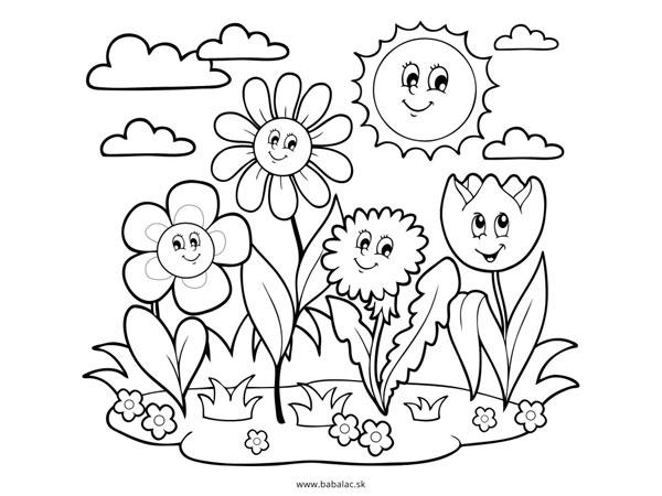 Omaľovánky pre deti kvety