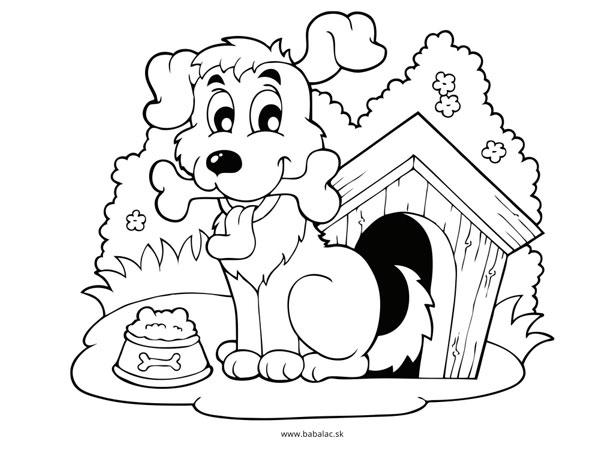 Omaľovánky pre deti pes