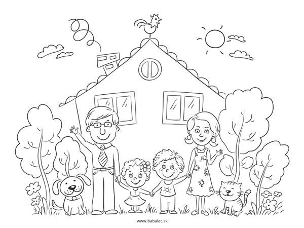 Omaľovánky pre deti rodina