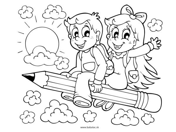 Omaľovánky pre deti škola