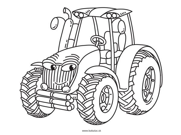 Omaľovánky pre deti traktor