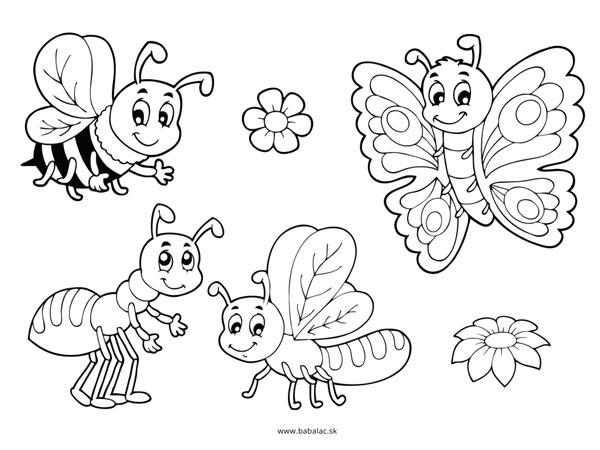 Omaľovánky pre deti včielky