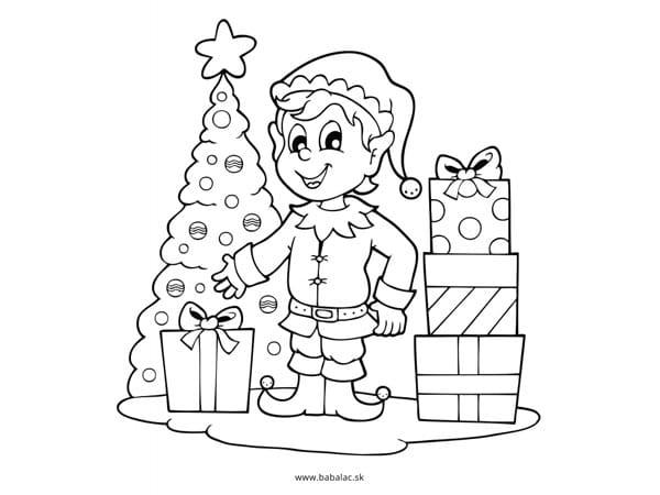 Omaľovánky pre deti Vianoce darčeky