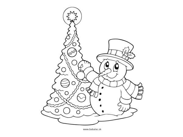 Omaľovánky pre deti Vianoce