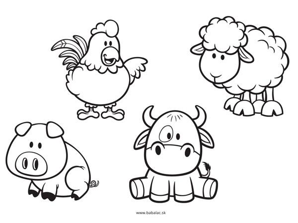Omaľovánky pre deti zvieratá