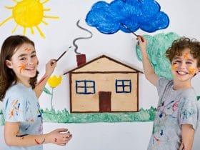 Maľovanie na stenu pre deti