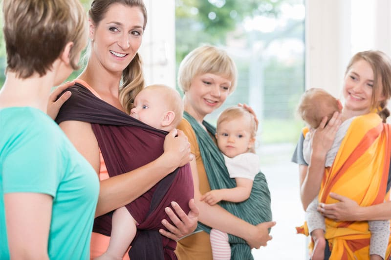 matky a nosenie detí