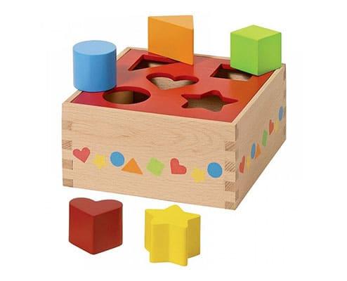vkladanie tvarov pre deti