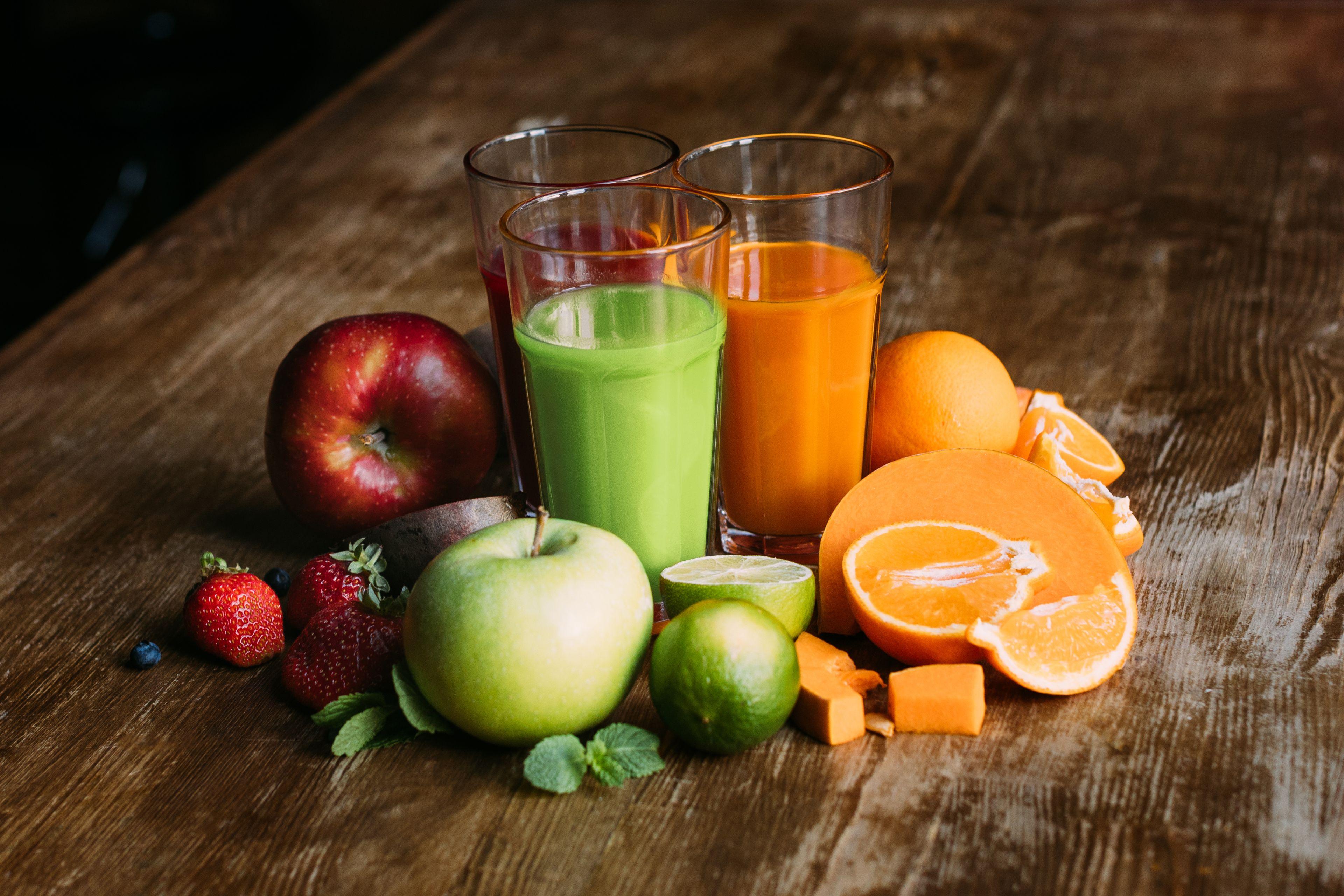 Zeleninovo ovocná šťava