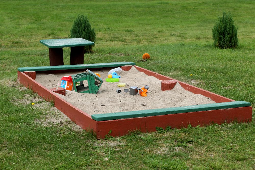 Záhrada s pieskoviskom