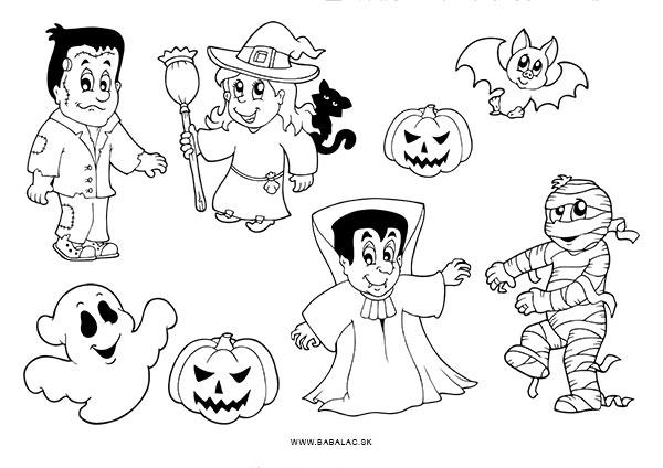 Omaľovánky pre deti Halloween