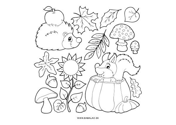 Omaľovánky pre deti Jeseň